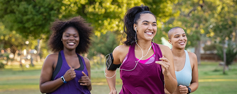 A group of women on a run