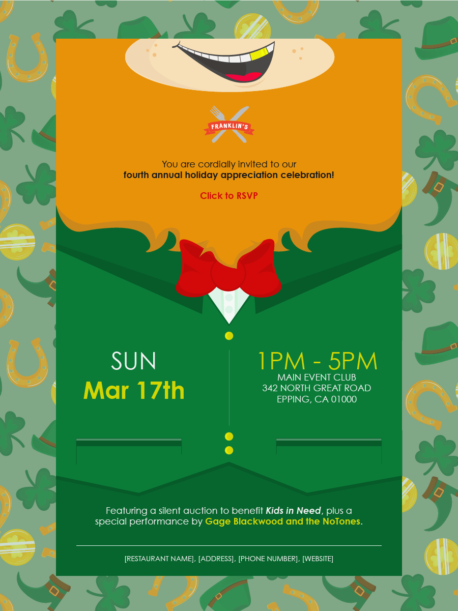 Constant Contact St Patrick's Day Event email template