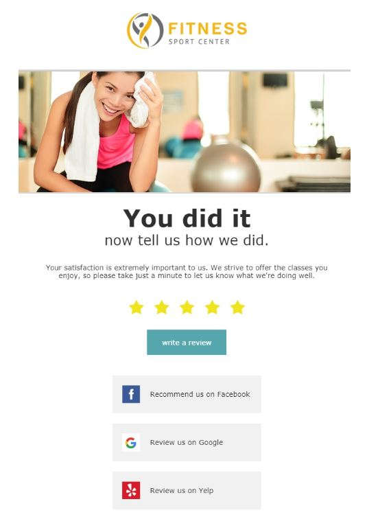 Send More Creative Emails to Your Favorite Fitness Customers