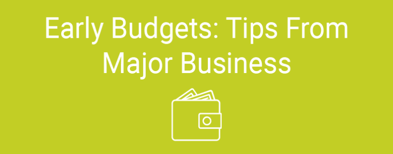 Early Budgets: Tips From Major Businesses