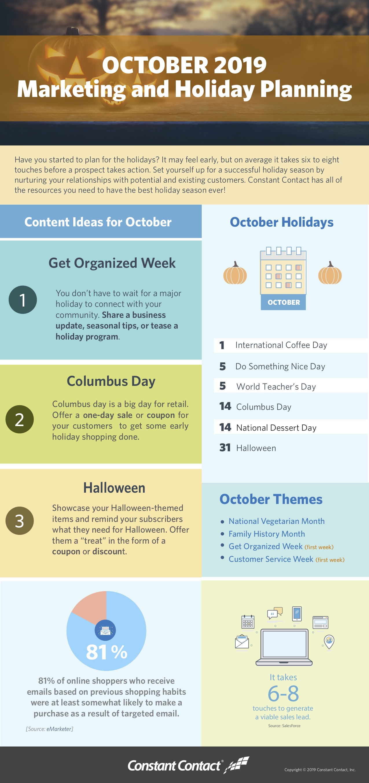2019 October Holiday Infographic