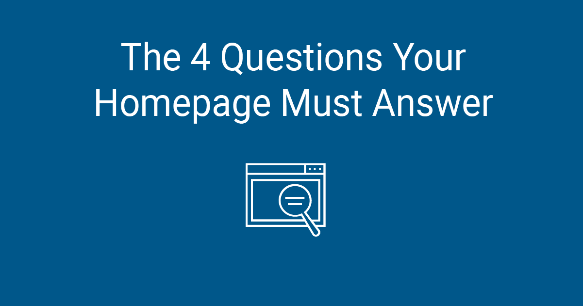 The 4 Questions Your Homepage Must Answer | Constant Contact