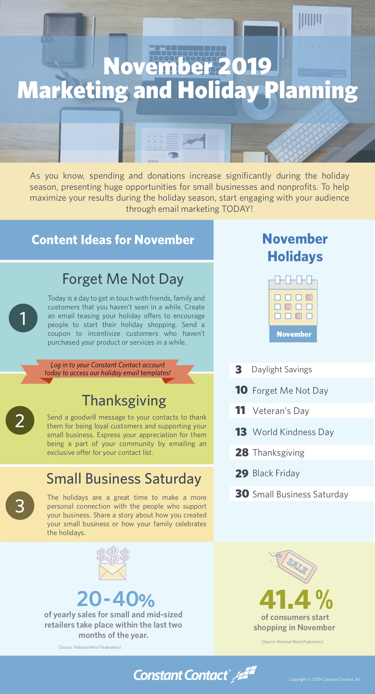 November 2019 Holiday Planning