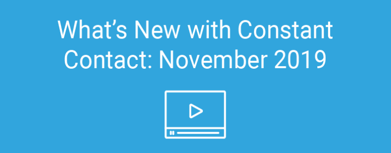 What's New with Constant Contact: November 2019