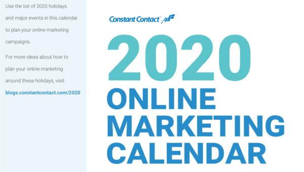 2020 Online Marketing Calendar
