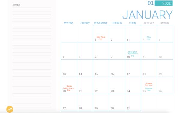 January online marketing holidays