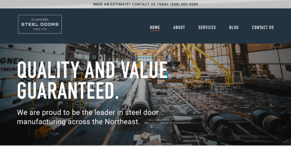 manufacturing business website example