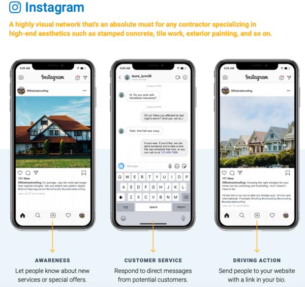 Guía de marketing de Instagram para servicios de construcción de viviendas