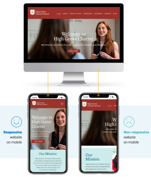 Mobile-responsive education website