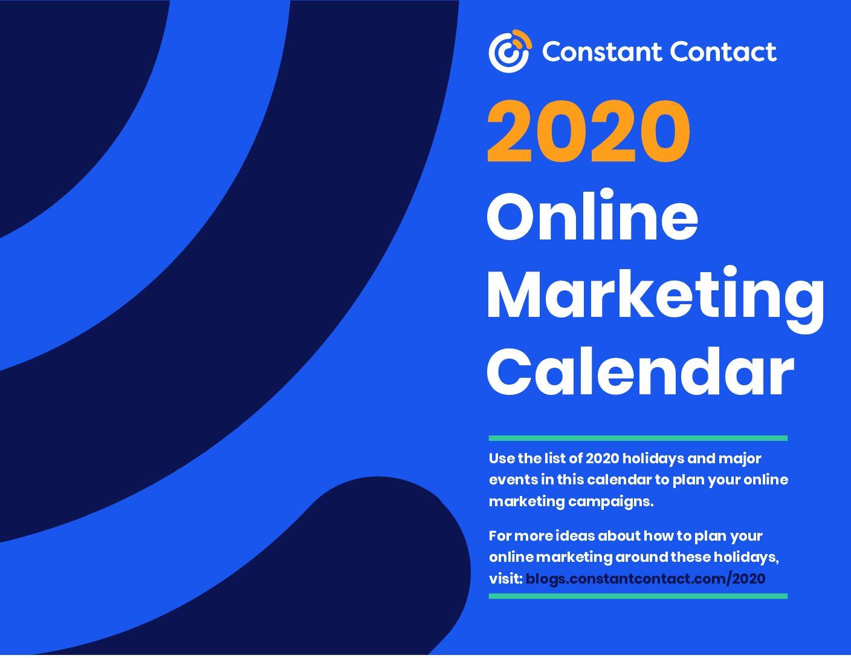 Online Marketing Calendar 2020