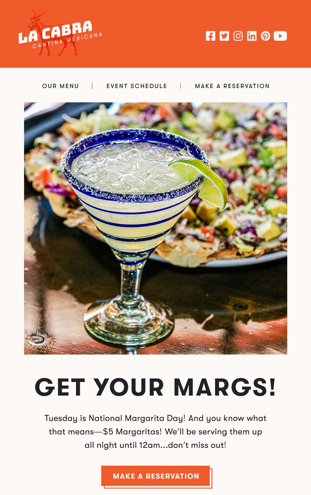 El marketing por correo electrónico de contacto constante para restaurantes continúa comunicándose