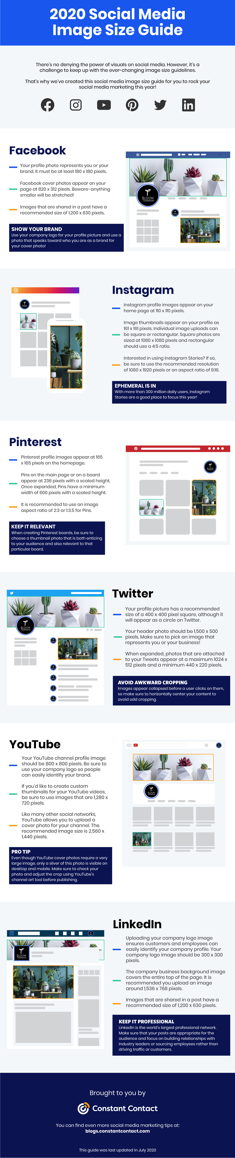 2020 Social Media Image Sizes Cheat Sheet Constant Contact