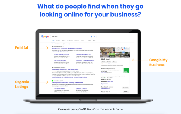 Example of Google Search Engine Results Page