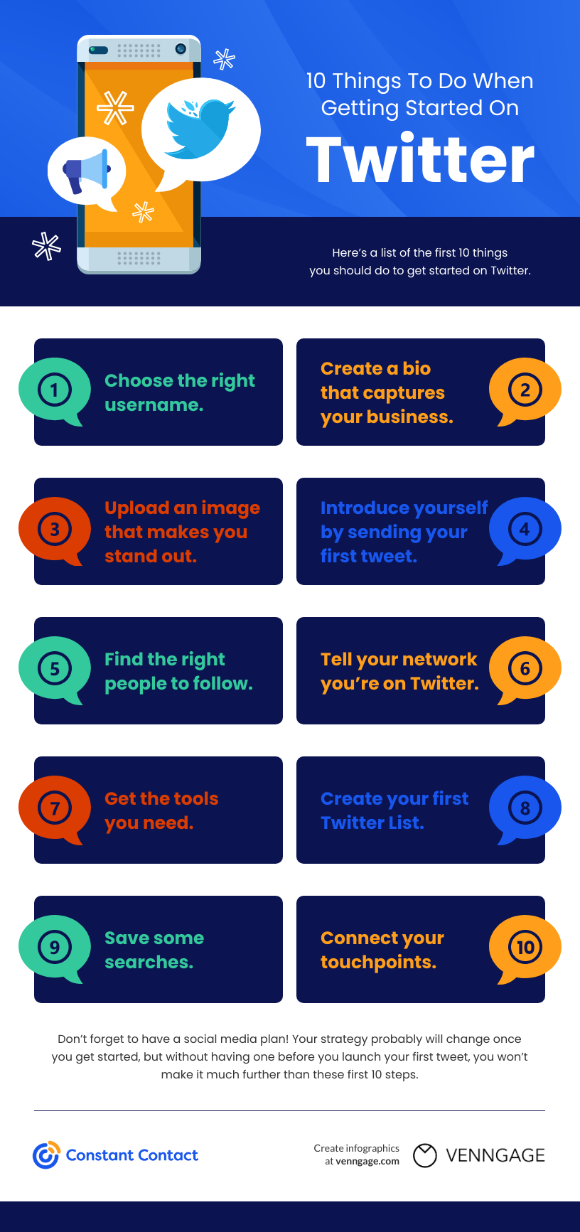 10 things to do when getting started on Twitter.
