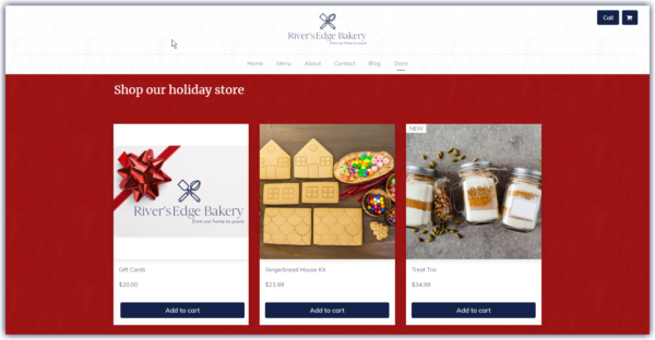 example of a decorated holiday online store