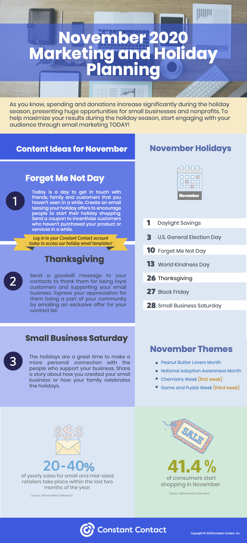 November 2020 marketing holidays