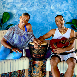 Leslie Salmon Jones and Jeff W Jones, Founders of Afro Flow Yoga