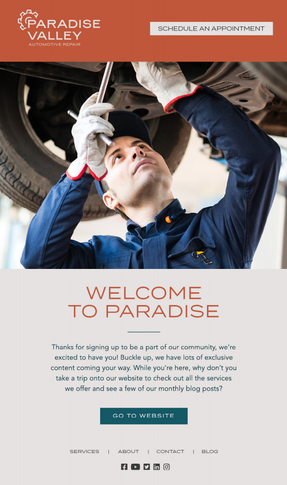 auto repair shop marketing email