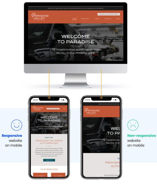 auto repair shop marketing website