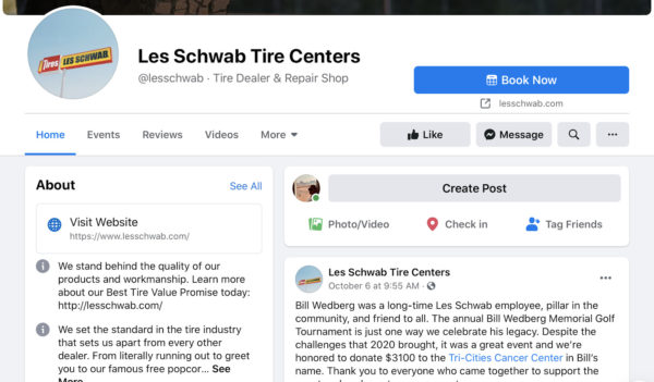 auto repair shop marketing facebook page
