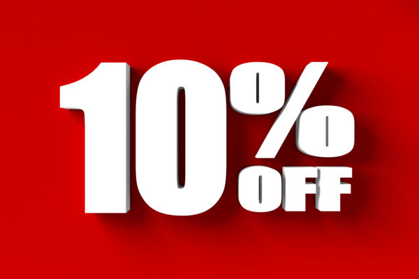 example of a sales image of 10% off