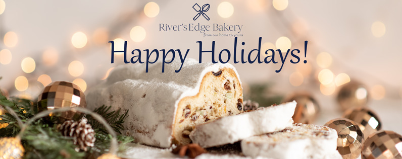 Example of a holiday-themed Facebook cover photo that has had a company logo and other text overlayed