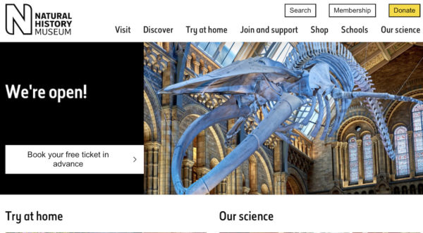 National History Museum website