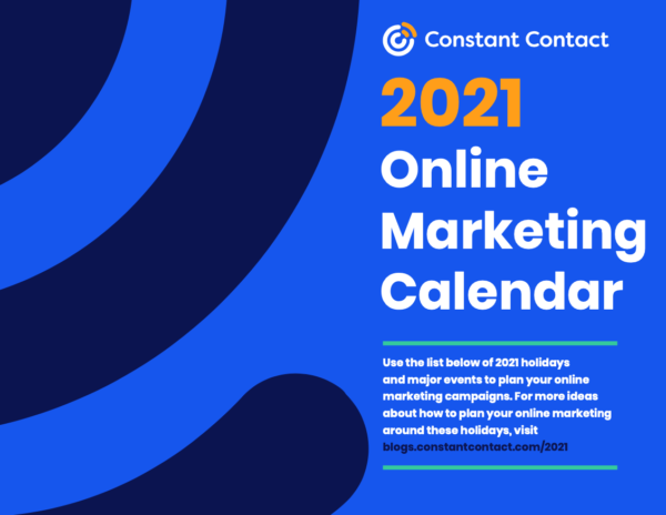 Free online marketing calendar for 2021