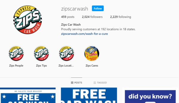 car wash advertising instagram example