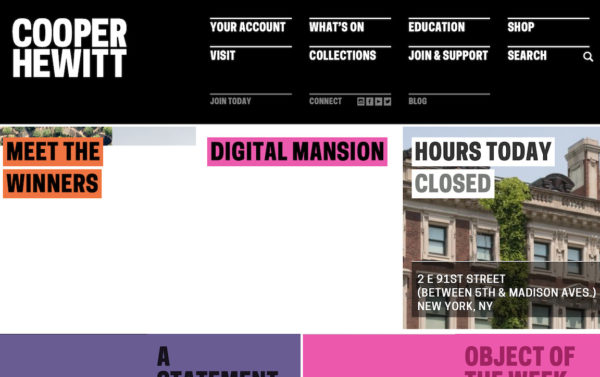 Cooper Hewitt website