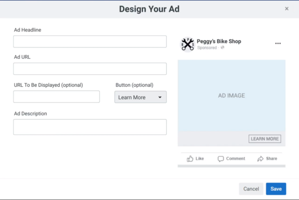 Facebook ad creation for writers