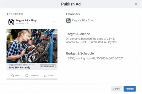 Facebook Ads builder