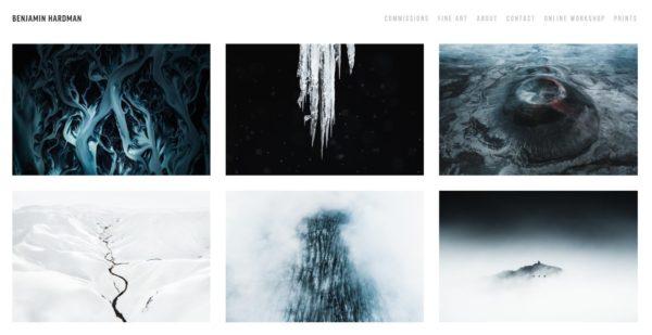 Artist website example of crisp, clean backdrop -  Artist: Benjamin Hardman