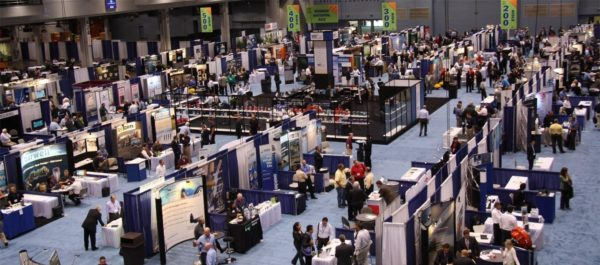 Image of trade show where every vender blends in