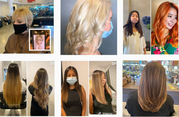 Marketing a salon by using before and after photos on social media