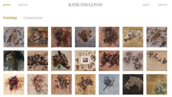 Artist website example  - Artist: Katie O'Sullivan