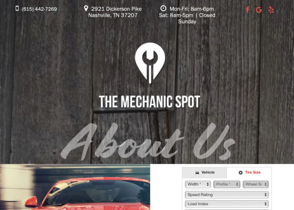 auto repair web site