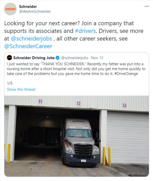Best place to advertise for truck drivers - Twitter