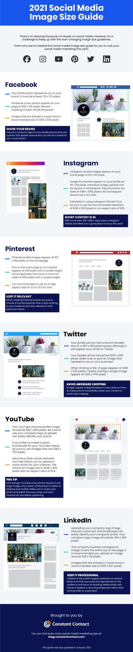 Social Media Image Sizes 2021