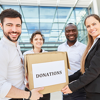 getting donations from companies