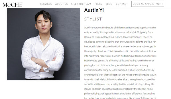 hair stylist bio examples