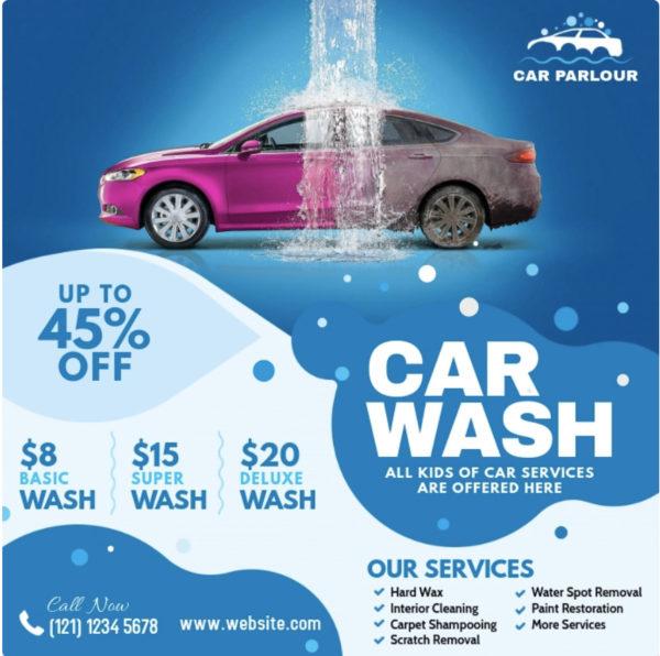 car wash sign ideas