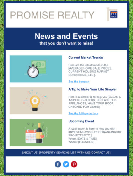 Constant Contact real estate newsletter template