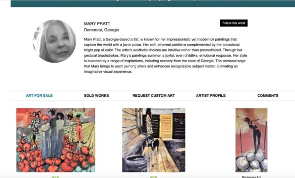 Artist profile example - Mary Pratt