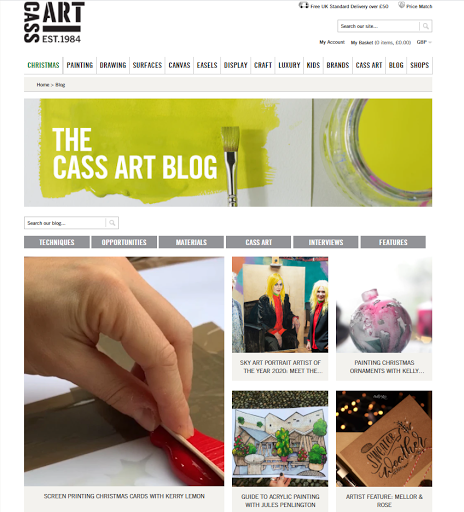 blog examples - Cass Art blog