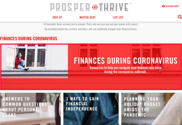 blog examples - Prosper and Thrive by Santander Bank