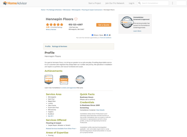 roofing marketing idea - get listed in online directories like HomeAdvisor