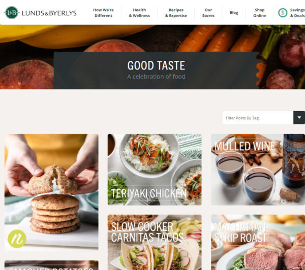 blog examples - Good Taste by LUnds & Byerlys