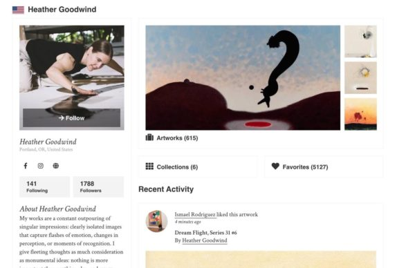artist profile example - Heather Goodwind