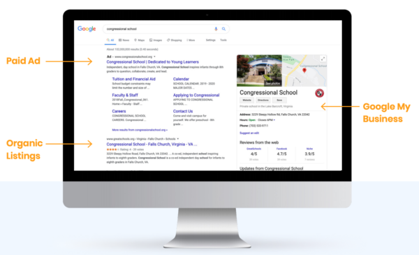search results page example